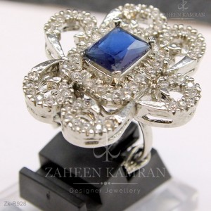 Zirconia Sapphire Ring