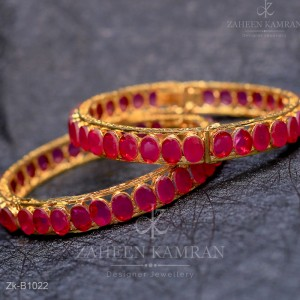 Ruby Golden Bangles