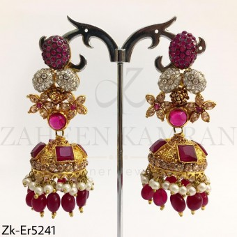 Ruby Gold Jhumki
