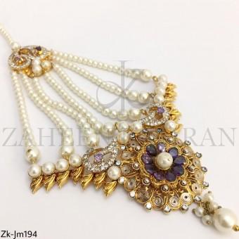 Amethyst gold jhumar