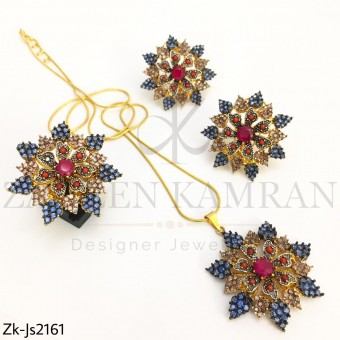 Floral Pendant Set