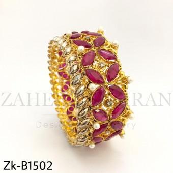 Gold Rubby bangle