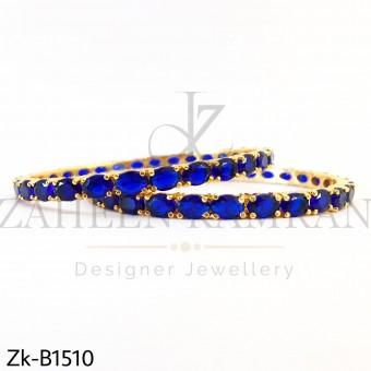 Elegant Sapphire Round Bangle