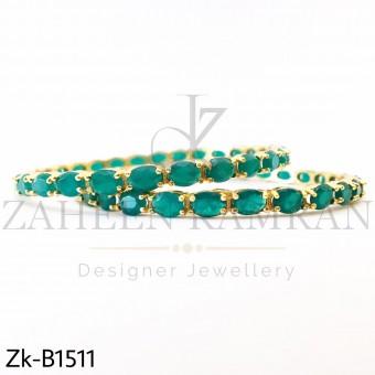Round Emerald Bangle
