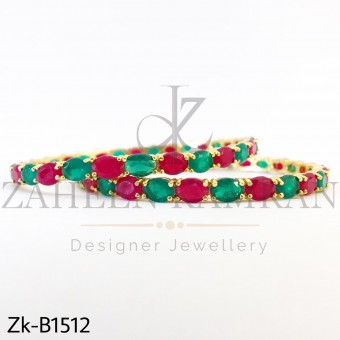 Ruby Emerald Round Bangle