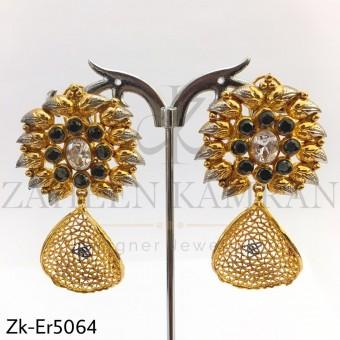 Floral leave earrings