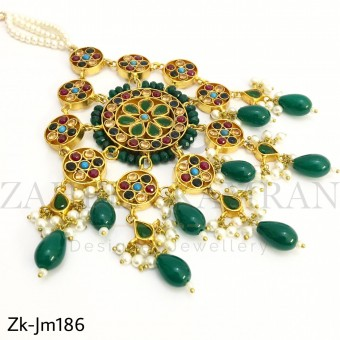 Unique Emerald jhummar