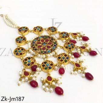 Ruby Round Jhummar
