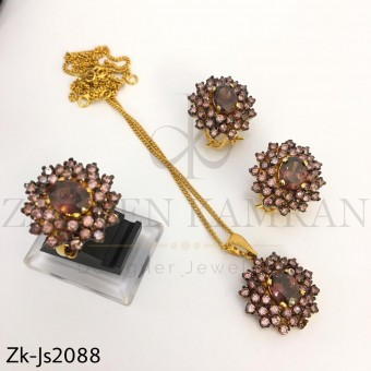 Rose gold pendant set