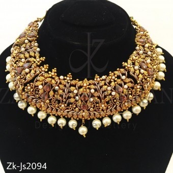 Traditional Coffee Necklace set