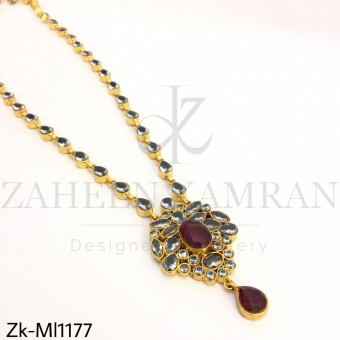 Ruby smoky pendant