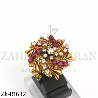 Rubby floral ring