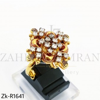 Zirconia Gold Plated Ring