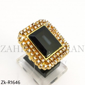 Agate Zirconia Ring