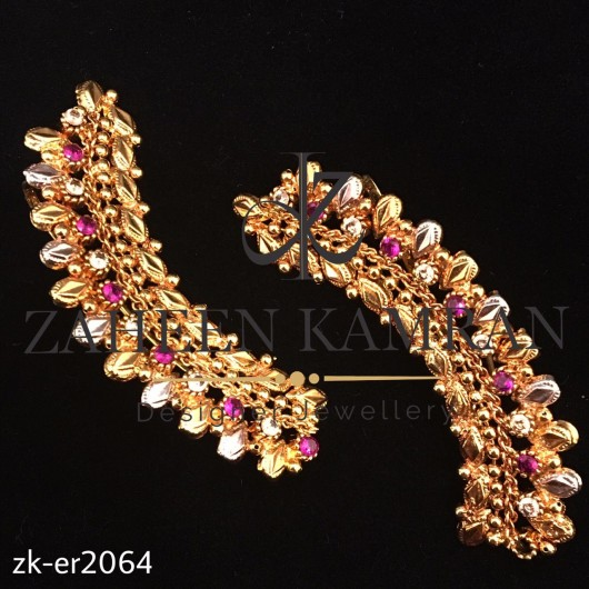 Classy Leaf Shaped Golden Ear Cuffs Earings