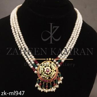Beautiful  Multicoloured Pearls Mala