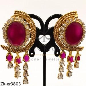 Ruby Marbled Earrings