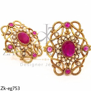 Gold Plated Ruby Earrings