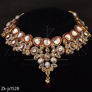 Red Mina Bridal Necklace